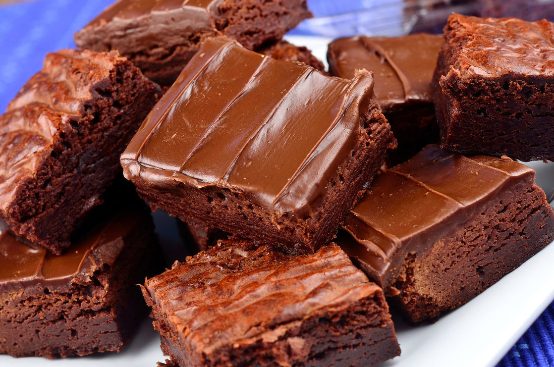 Chocolate Fudge Brownies Recipe — Dishmaps